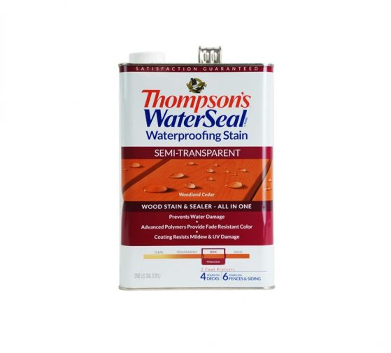 Thompson's WaterSeal Waterproofing Stain Exterior Wood Stain
