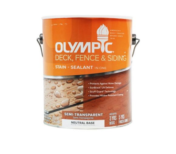 Olympic Semi Transparent Deck Stain Exterior Wood Stain
