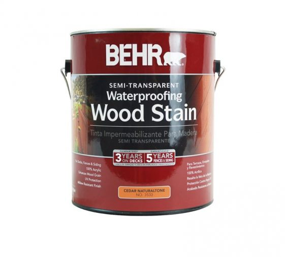 Behr Semi Transparent Waterproofing Wood Stain Exterior Wood Stain