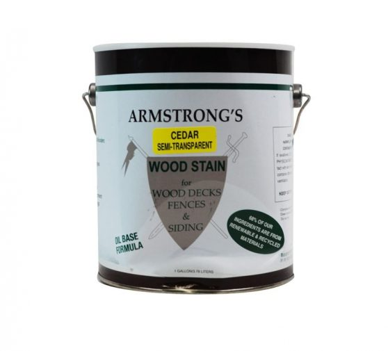 Armstrong's Semi Transparent Deck Stain Exterior Wood Stain